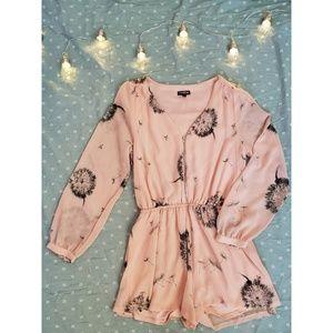 Express Dandelion Pastel Pink Romper